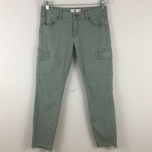 CAbi Jeans Army Green Cargo Pants sz 6